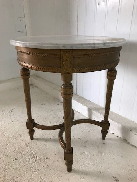 SOLD -Lovely French Hall Table / Side Table - f7